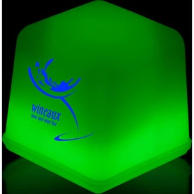 Green Glow Ice Cubes