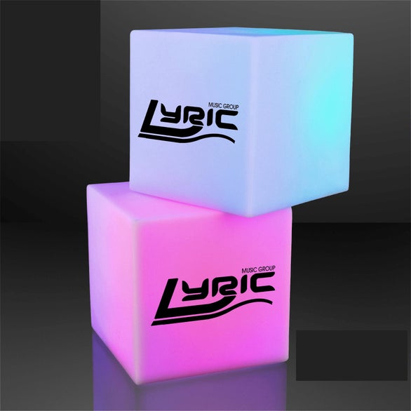 White Light Deco Cube with Color Changing LEDs