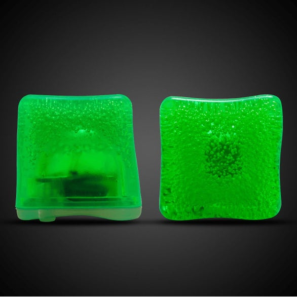 Green Neon Lited Ice Cubes