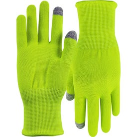 Hi-Vis Sports Performance Runners Text Gloves