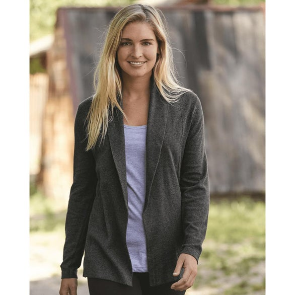 Charcoal Heather Weatherproof Women's Vintage Cotton Cashmere Cardigan