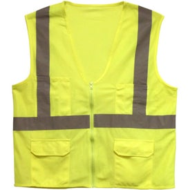 Branded ANSI 2 Safety Vest with Pockets