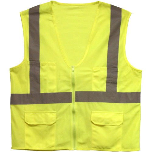 Yellow ANSI 2 Safety Vest with Pockets