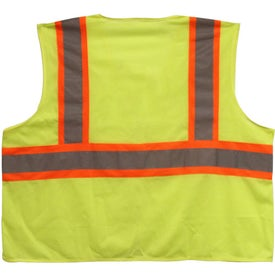 ANSI 2 Tri Color Safety Vest Imprinted with Your Logo