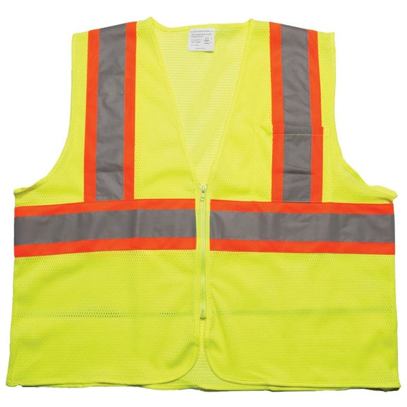 Yellow ANSI 2 Tri Color Safety Vest