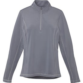 Caltech Knit Quarter Zip Top by TRIMARK for Promotion