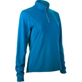 Printed Caltech Knit Quarter Zip Top by TRIMARK