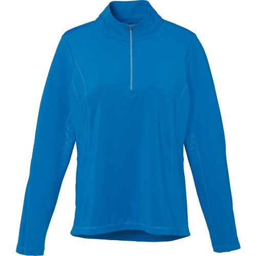 Olympic Blue Caltech Knit Quarter Zip Top by TRIMARK