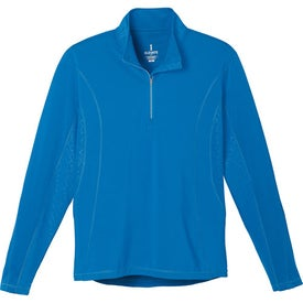 Caltech Knit Quarter Zip Top by TRIMARK with Your Slogan