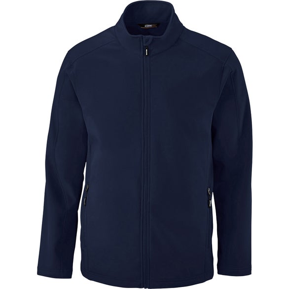 Navy Blue Core 365 Cruise Two-Layer Fleece Bonded Soft Shell Jacket