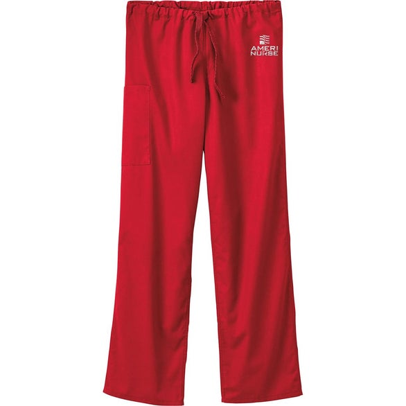 Red Fundamentals Unisex Full Drawstring Elastic Back Pants