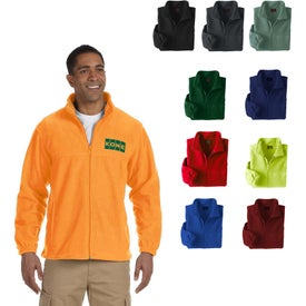 Harriton 8 Oz. Full-Zip Fleece Jacket (Men's)