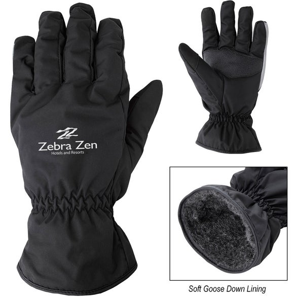 Black Insulated Water Resistant Adult Gloves