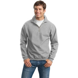 Logo JERZEES 1/4 Zip Sweatshirt w/ Cadet Collar