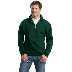 Custom JERZEES 1/4 Zip Sweatshirt w/ Cadet Collar