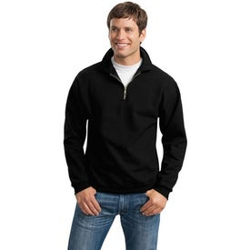 Imprinted JERZEES 1/4 Zip Sweatshirt w/ Cadet Collar