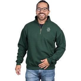 JERZEES 1/4 Zip Sweatshirt w/ Cadet Collar for Marketing