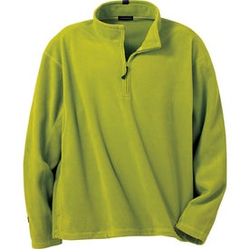 Printed Lugano Microfleece Quarter Zip Pullover by TRIMARK