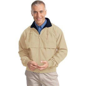Port Authority Classic Poplin Jacket with Your Slogan