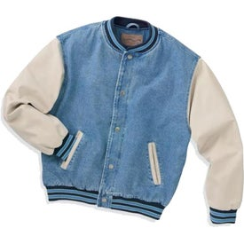 Personalized Port Authority Denim and Twill Letterman Jacket