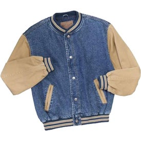 Port Authority Denim and Twill Letterman Jacket