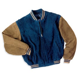Port Authority Sueded Leather Letterman Jacket