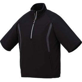 Branded Powell Short Sleeve Half Zip Windshirt by TRIMARK