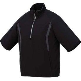 Branded Powell Short Sleeve Half Zip Windshirt by TRIMARK
