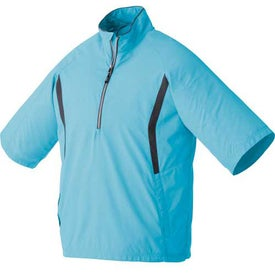 Promotional Powell Short Sleeve Half Zip Windshirt by TRIMARK