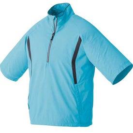 Promotional Powell Short Sleeve Half Zip Windshirt by TRIMARK