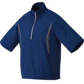 Powell Short Sleeve Half Zip Windshirt by TRIMARK Imprinted with Your Logo