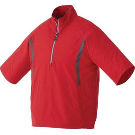 Powell Short Sleeve Half Zip Windshirt by TRIMARK Printed with Your Logo