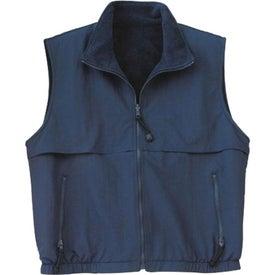 Customized Port Authority Reversible Terra-Tek Nylon and Fleece Vest