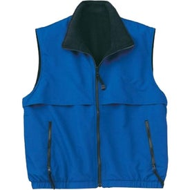 Personalized Port Authority Reversible Terra-Tek Nylon and Fleece Vest