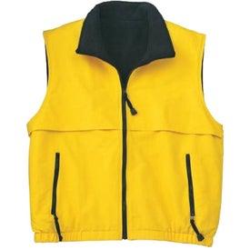 Monogrammed Port Authority Reversible Terra-Tek Nylon and Fleece Vest