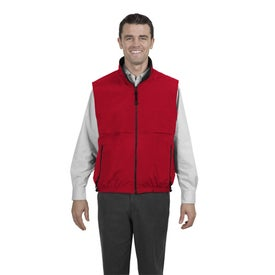 Imprinted Port Authority Reversible Terra-Tek Nylon and Fleece Vest