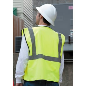 Monogrammed Safety Works Hi-Viz Lime Green Class 2 Safety Vest