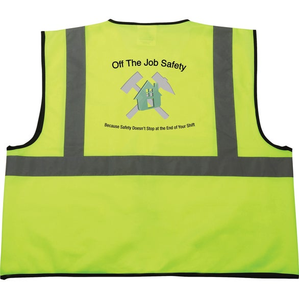 Safety Works Hi-Viz Lime Green Class 2 Safety Vest