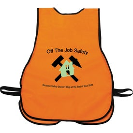 Safety Works High Visibility Safety Vest Branded with Your Logo