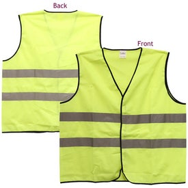 Promotional Safety Vest with Hook and Loop Front Closure