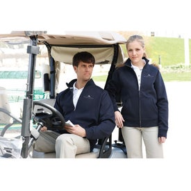 Silas Fleece Full Zip Jacket by TRIMARK Imprinted with Your Logo