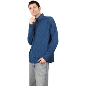 Yerba Knit Quarter Zip Pullover by TRIMARK Printed with Your Logo