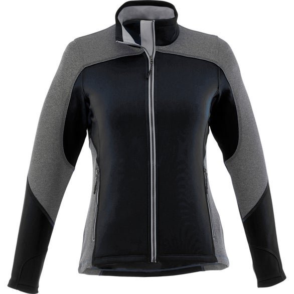 Black / Heather Charcoal Yosemite Knit Jacket by TRIMARK