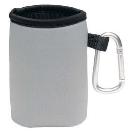 Collapsible Koozie Can Kooler with Carabiner for Marketing