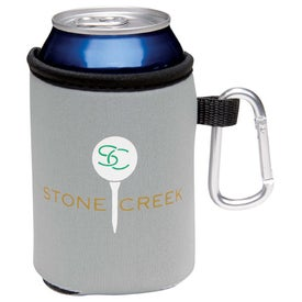 Collapsible Koozie Can Kooler with Carabiner for Your Church