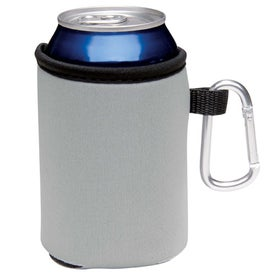 Collapsible Koozie Can Kooler with Carabiner for Your Company