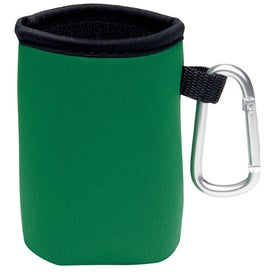 Imprinted Collapsible Koozie Can Kooler with Carabiner