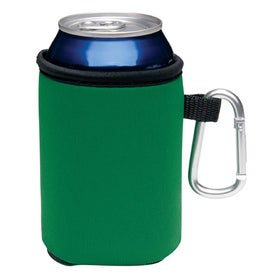 Customized Collapsible Koozie Can Kooler with Carabiner