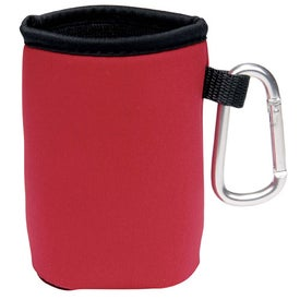 Collapsible Koozie Can Kooler with Carabiner for Customization