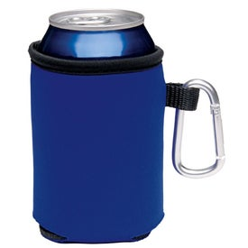 Branded Collapsible Koozie Can Kooler with Carabiner